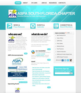Old ASPA South Florida Chapter website look